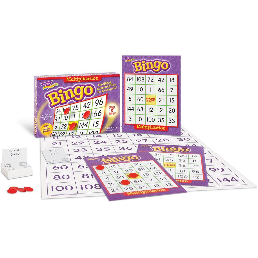 Trend Multiplication Bingo Learning Game - Theme/Subject: Learning - Skill Learning: Mathematics - 8-13 Year