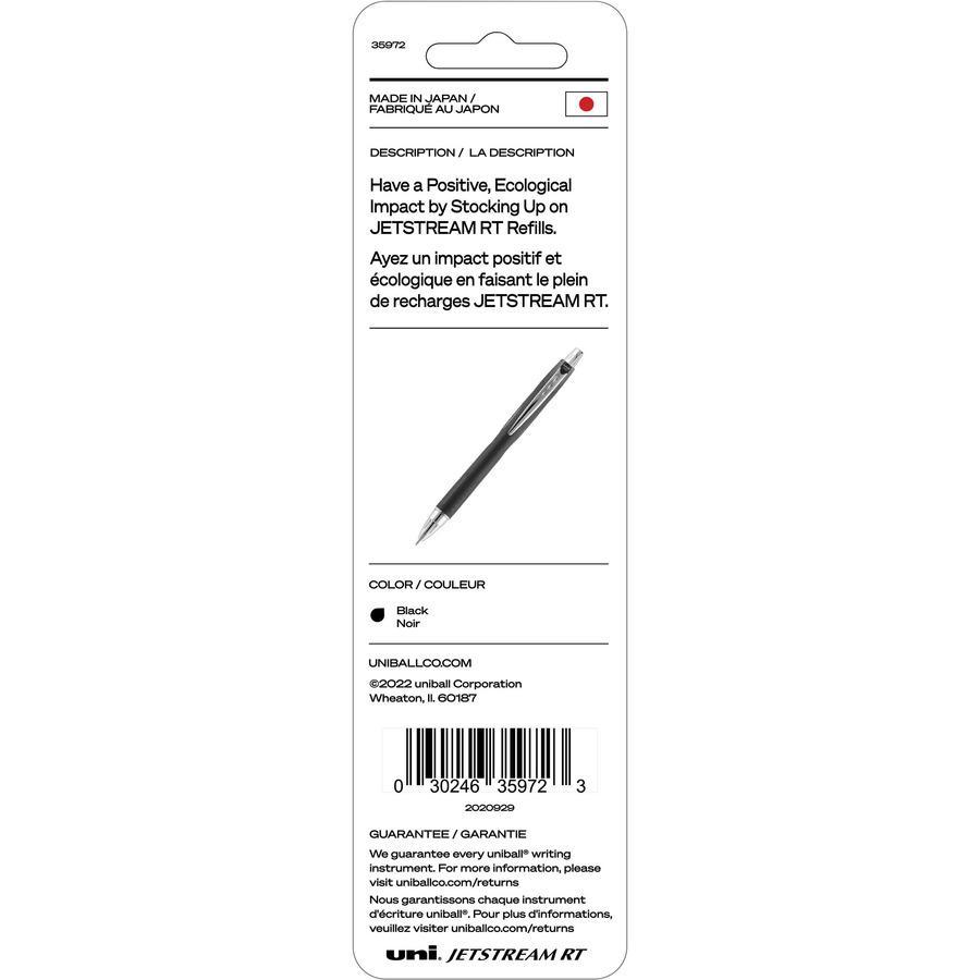uni-ball Jetstream RT Ballpoint Pen Refills - 1 mm, Medium Point - Black Ink - Non-toxic, Super Ink - 2 / Pack. Picture 4