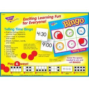 Trend Telling Time Bingo Game - Theme/Subject: Learning - Skill Learning: Time, Language - 6-8 Year. Picture 7