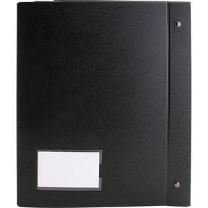 "Business Source Presentation Binder - 1"" Binder Capacity - Letter - 8 1/2"" x 11"" Sheet Size - Ring Fastener(s) - Internal Pocket(s) - Black - Recycled - Business Card Holder, Label Holder - 1 Each. Picture 9"