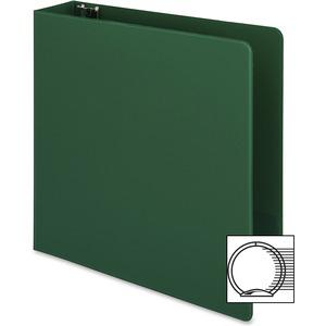 """Business Source Basic Round-ring Binder - 2"""" Binder Capacity - Letter - 8 1/2"""" x 11"""" Sheet Size - 3 x Round Ring Fastener(s) - Vinyl - Green - Open and Closed Triggers - 1 Each. Picture 11"""