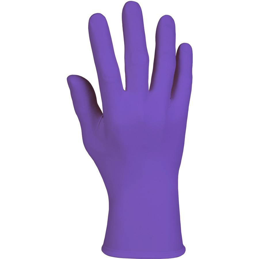 """Kimberly-Clark Purple Nitrile Exam Gloves - 9.5"""" - Medium Size - Nitrile - Purple - Latex-free, Powder-free, Textured Fingertip, Beaded Cuff, Ambidextrous, Non-sterile - For Healthcare Working - 100 /. Picture 8"""