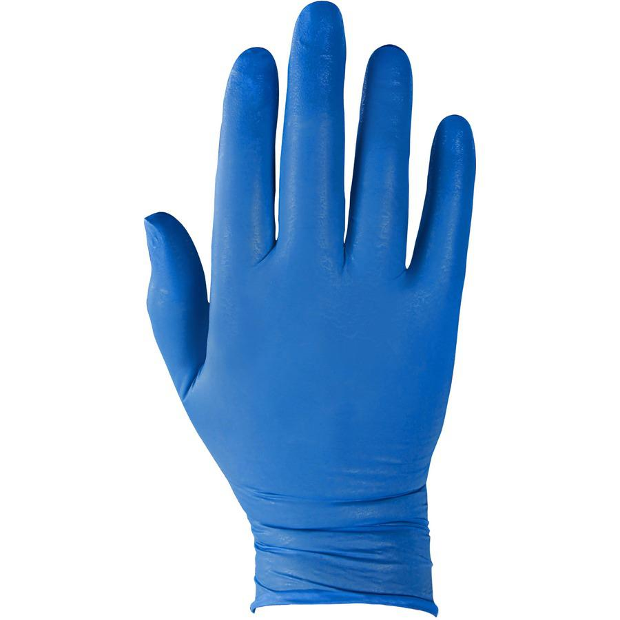 KleenGuard G10 Nitrile Gloves - Large Size - Nitrile - Arctic Blue - Latex-free, Powder-free, Textured Fingertip, Ambidextrous, Beaded Cuff, Comfortable - For Industrial, Food Handling, Electrical Con. Picture 2