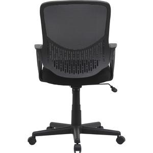 """Lorell Value Collection Mesh Back Task Chair - Black Fabric Seat - Black Fabric Back - 24.6"""" Width x 14.3"""" Depth x 23.6"""" Height - 1 Each. Picture 5"""