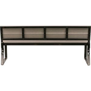 Lorell Charcoal Outdoor Bench with Backrest - Charcoal Faux Wood, Polystyrene Seat - Charcoal Faux Wood, Polystyrene Back - 1 Each. Picture 3
