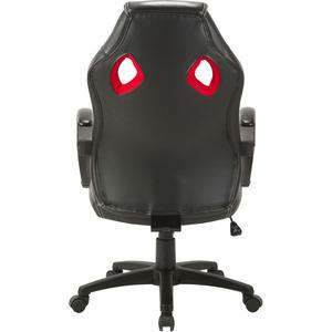 Lorell High-back 2-Color Economy Gaming Chair - Mesh, Polyurethane, Nylon - Black, Red. Picture 5