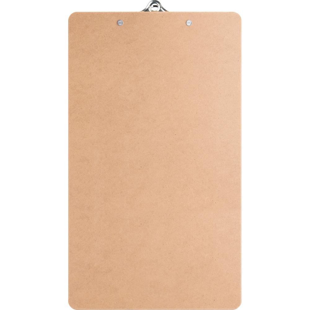 "Business Source Hardboard Clipboard - 9"" x 15 1/2"" - Hardboard - Brown - 1 Each. Picture 6"