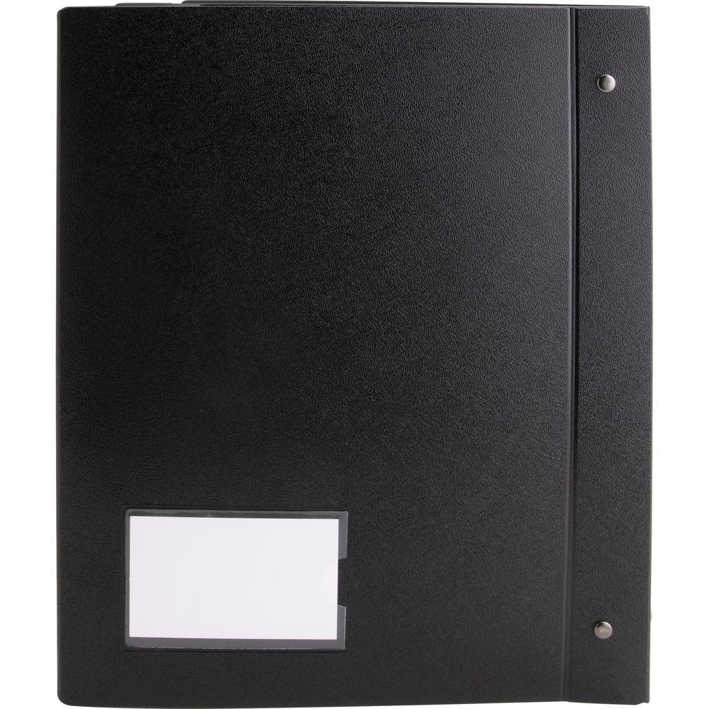 "Business Source Presentation Binder - 1"" Binder Capacity - Letter - 8 1/2"" x 11"" Sheet Size - Ring Fastener(s) - Internal Pocket(s) - Black - Recycled - Business Card Holder, Label Holder - 1 Each. Picture 6"