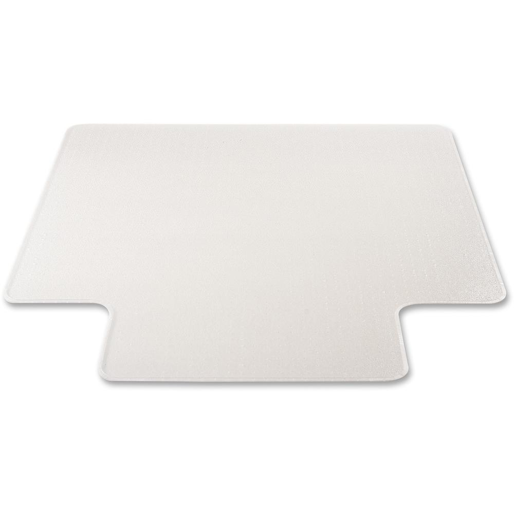 """Deflecto RollaMat for Carpet - Home, Office, Carpet - 60"""" Length x 46"""" Width - Lip Size 12"""" Length x 25"""" Width - Rectangle - Textured - Vinyl - Clear. Picture 2"""