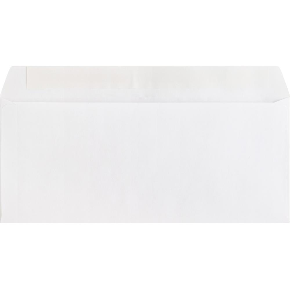 "Business Source Plain Peel/Seal Business Envelopes - Business - #10 - 9 1/2"" Width x 4 1/8"" Length - 24 lb - Peel & Seal - Wove - 500 / Box - White. Picture 3"