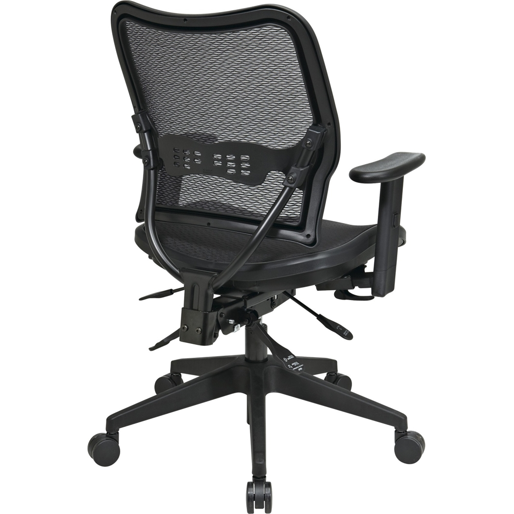 Office Star Deluxe Air Grid Seat Back Chair Black 20
