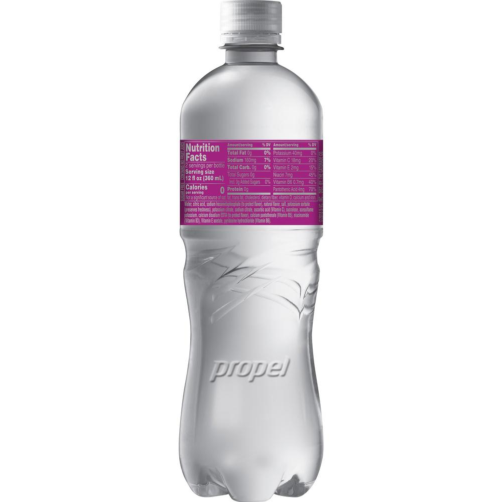 Propel Zero Quaker Foods Flavored Water Beverage - Berry Flavor - 24 fl oz (710 mL) - 12 / Carton. Picture 3