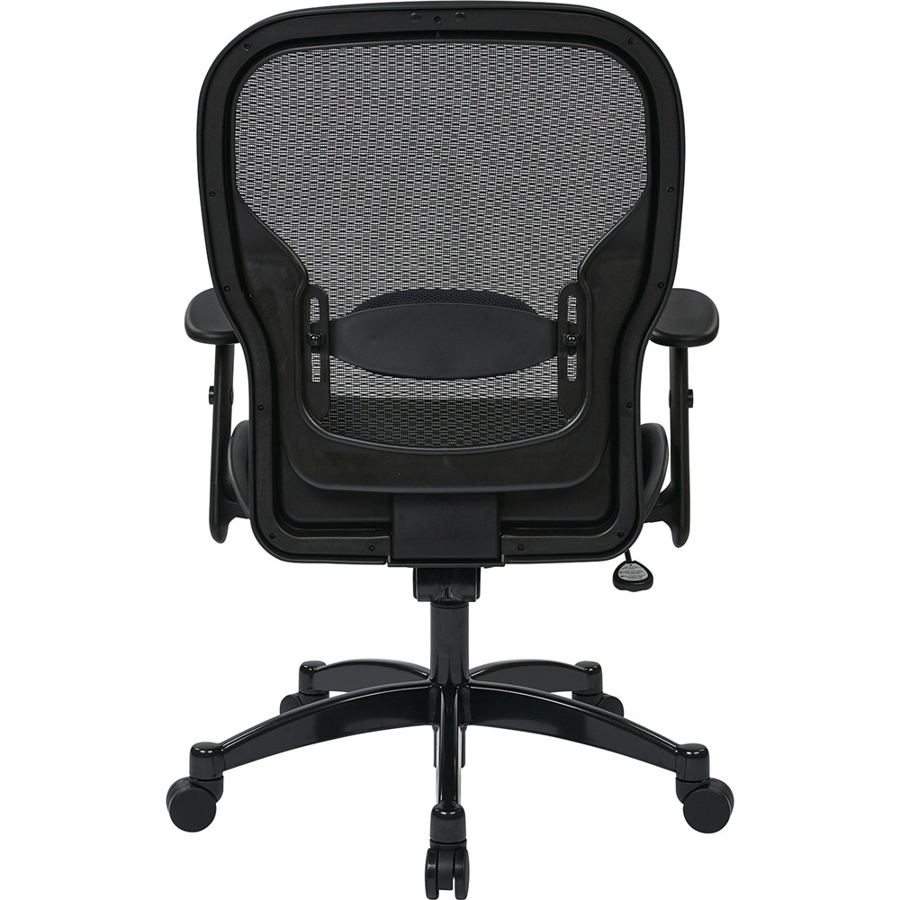 """Office Star Professional Managers Chair - Leather Seat - 5-star Base - Black - 20"""" Seat Width x 19.50"""" Seat Depth - 27.3"""" Width x 25.8"""" Depth x 46.3"""" Height. Picture 2"""