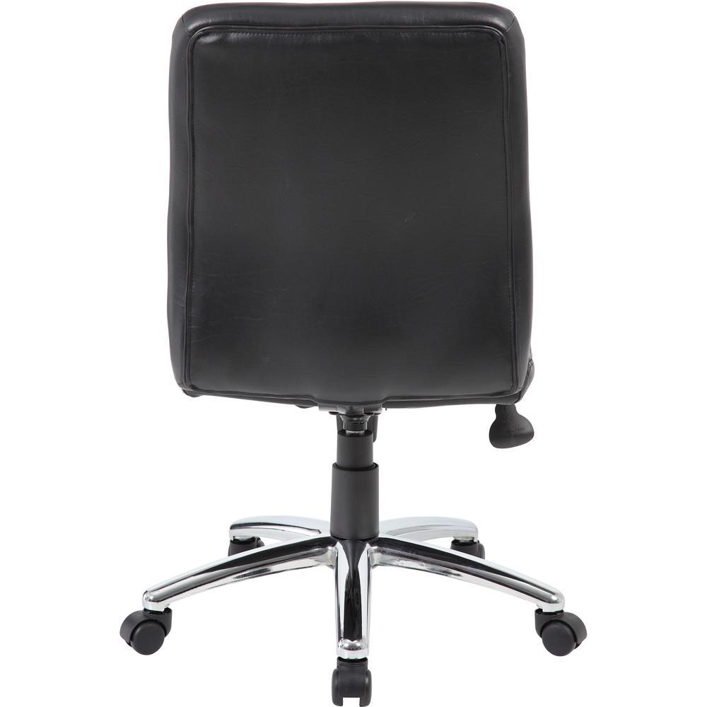 Boss B430 Task Chair - Black Vinyl Seat - Black Vinyl Back - Chrome, Black Chrome Frame - 5-star Base - 1 Each. Picture 5