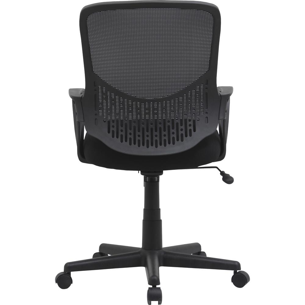 """Lorell Value Collection Mesh Back Task Chair - Black Fabric Seat - Black Fabric Back - 24.6"""" Width x 14.3"""" Depth x 23.6"""" Height - 1 Each. Picture 8"""