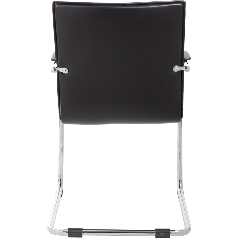 """Boss Chrome Frame, Black Vinyl Side Chair, 2 pack - Black Vinyl Seat - Black Vinyl Back - Chrome Polywood Frame - Cantilever Base - 20"""" Seat Width x 18"""" Seat Depth - 23"""" Width x 24.5"""" Depth x 37.5"""" He. Picture 2"""