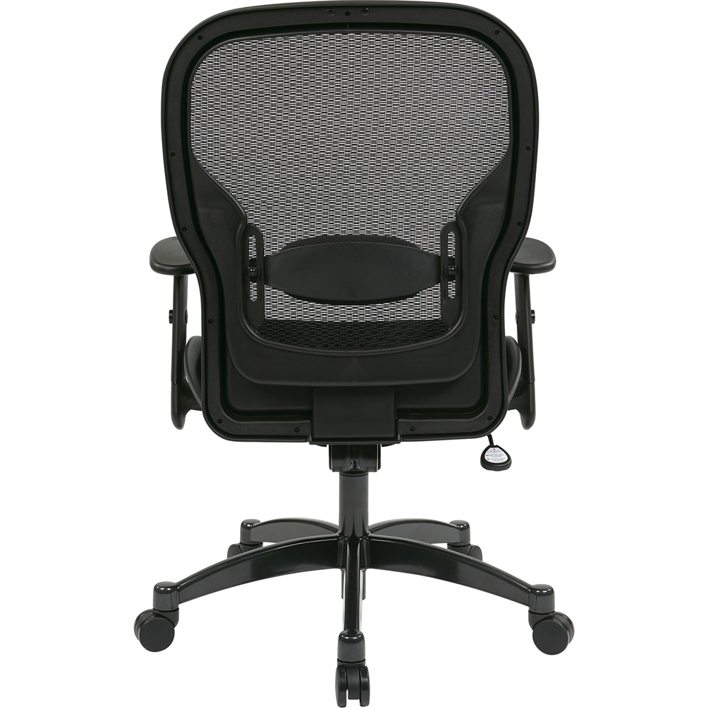 """Office Star Space 2300 Matrex Managerial Mid-Back Mesh Chair - Mesh Black Seat - Mesh Back - 5-star Base - Black - 20"""" Seat Width x 19.50"""" Seat Depth - 27.3"""" Width x 25.8"""" Depth x 46.3"""" Height. Picture 11"""