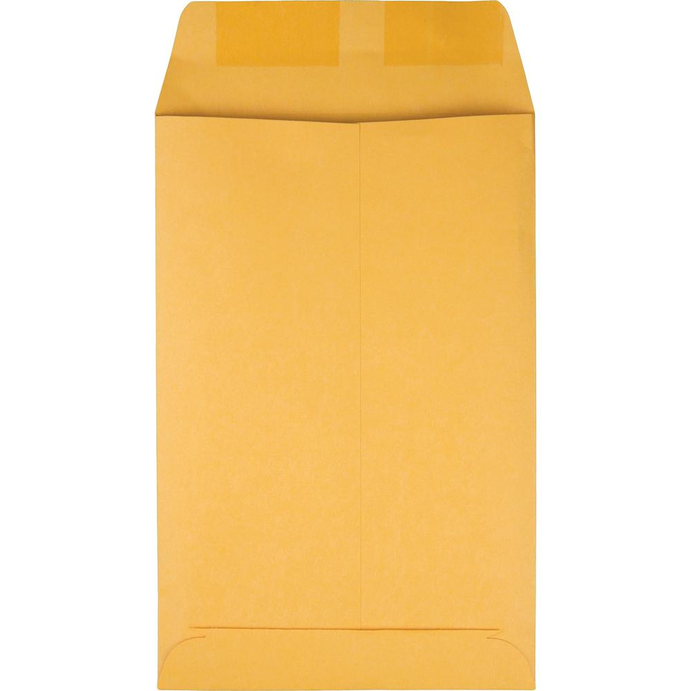 "Quality Park Kraft Catalog Envelopes - Catalog - #1 - 6"" Width x 9"" Length - 28 lb - Gummed - Kraft - 100 / Box - Kraft. Picture 5"
