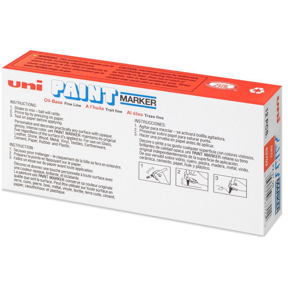 uni-ball Uni-Paint PX-21 Oil-Based Fine Point Marker - Fine Marker Point - Red Oil Based Ink - 1 Each. Picture 4
