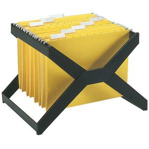 Deflecto X-Rack For Hanging Files - Letter/Legal - 25 File Capacity - Plastic - Black - 1 Each. Picture 2