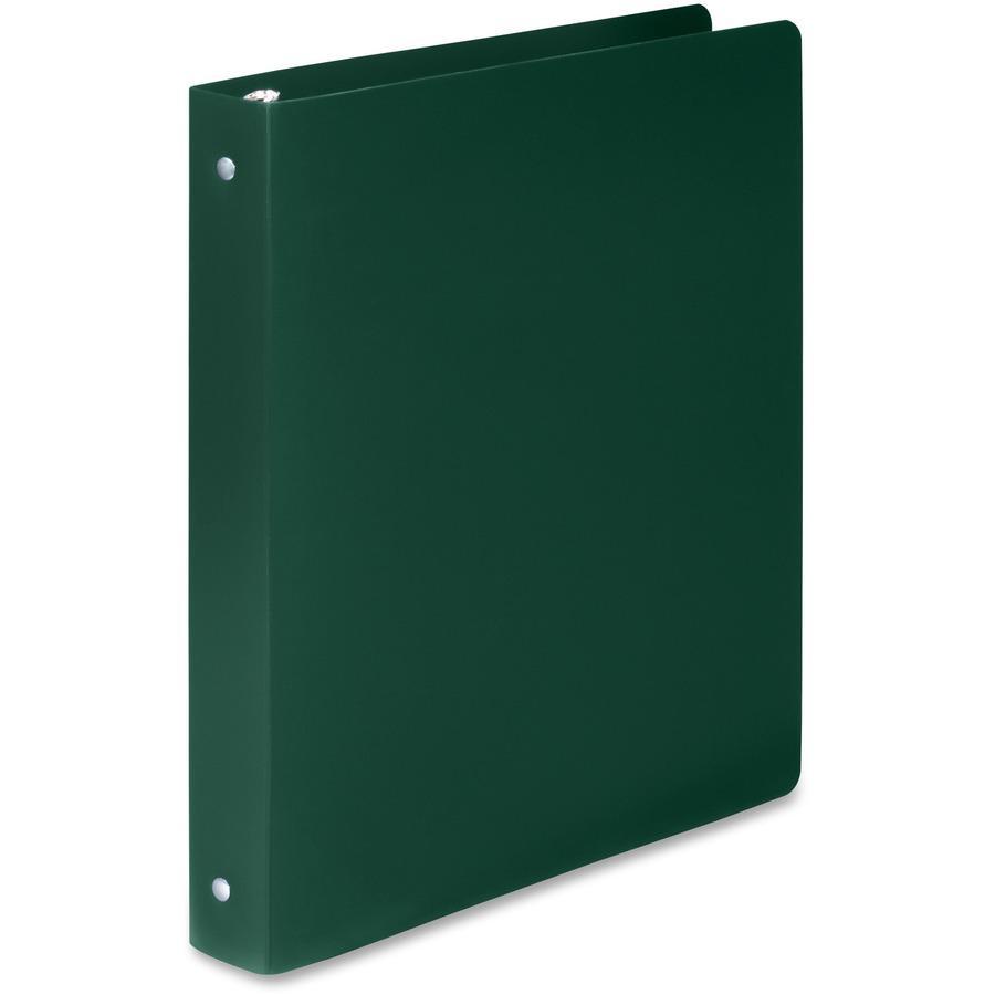 "Wilson Jones ACCOHIDE Binder - 1"" Binder Capacity - Letter - 8 1/2"" x 11"" Sheet Size - 175 Sheet Capacity - Round Ring Fastener(s) - 35 pt. Binder Thickness - Polypropylene - Dark Green - Eco-friendly. Picture 5"