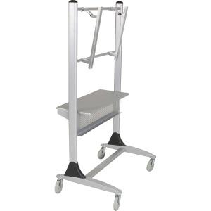"""MooreCo Platinum Series Plasma/LCD Cart - 67"""" Height x 35"""" Width x 25.5"""" Depth - Steel - Silver. Picture 3"""