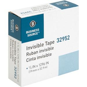 """Business Source Invisible Tape Dispenser Refill Roll - 36 yd Length x 0.75"""" Width - 1"""" Core - 1 Roll - Clear. Picture 9"""