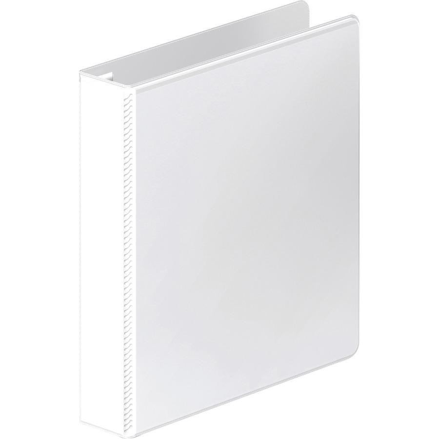 "Wilson Jones Ultra-Duty View Binder - Extra-Durable Hinge - 1 1/2"" Binder Capacity - Letter - 8 1/2"" x 11"" Sheet Size - 350 Sheet Capacity - Round Ring Fastener(s) - 4 Internal Pocket(s) - Polypropyle. Picture 3"