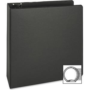 "Business Source Basic Round-ring Binder - 3"" Binder Capacity - Letter - 8 1/2"" x 11"" Sheet Size - 3 x Round Ring Fastener(s) - Inside Front & Back Pocket(s) - Vinyl - Black - 1.20 lb - Exposed Rivet, . Picture 9"