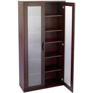 """Safco Après Modular Storage Tall Cabinet - 29.8"""" x 11.8"""" x 59.5"""" - 5 x Shelf(ves) - 75 lb Load Capacity - Mahogany - Wood - Assembly Required. Picture 4"""