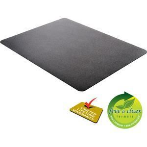 "Deflecto Black EconoMat for Hard Floors - Hard Floor, Office, Carpeted Floor, Breakroom - 60"" Length x 46"" Width - Rectangle - Vinyl - Black. Picture 12"