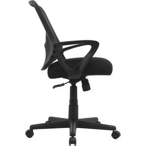 """Lorell Value Collection Mesh Back Task Chair - Black Fabric Seat - Black Fabric Back - 24.6"""" Width x 14.3"""" Depth x 23.6"""" Height - 1 Each. Picture 6"""