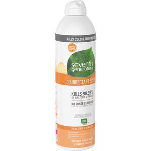Seventh Generation Disinfectant Cleaner - Spray - 13.9 fl oz (0.4 quart) - Fresh Citrus & Thyme Scent - 8 / Carton - Clear. Picture 6