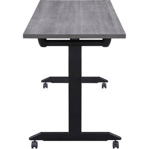 """Lorell Mobile Folding Training Table - Rectangle Top - Powder Coated Base - 23.63"""" Table Top Length x 29.50"""" Table Top Width - 63"""" Height - Assembly Required - Weathered Charcoal. Picture 3"""
