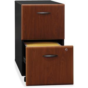 Bush Business Furniture Series A 2 Drawer Mobile File Cabinet, Assembled, Hansen Cherry/Galaxy. Picture 4