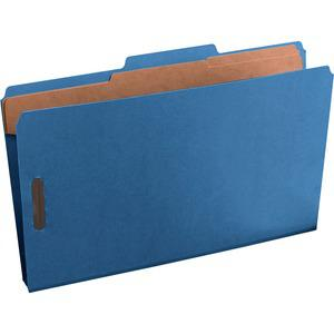 """Pendaflex 2/5 Tab Cut Legal Recycled Classification Folder - 8 1/2"""" x 14"""" - 2"""" Expansion - 4 Fastener(s) - 2"""" Fastener Capacity for Folder, 1"""" Fastener Capacity for Divider - 2 Divider(s) - Pressguard. Picture 3"""