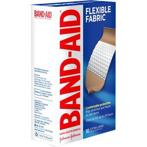 "Band-Aid Flex Extra Large Bandages - 1.25"" x 4"" - 10/Box - Tan. Picture 3"