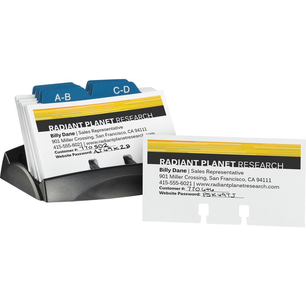 """Avery® Uncoated Rotary Cards - 2-Sided Printing - For 2.17"""" x 4"""" Size Card - White. Picture 2"""