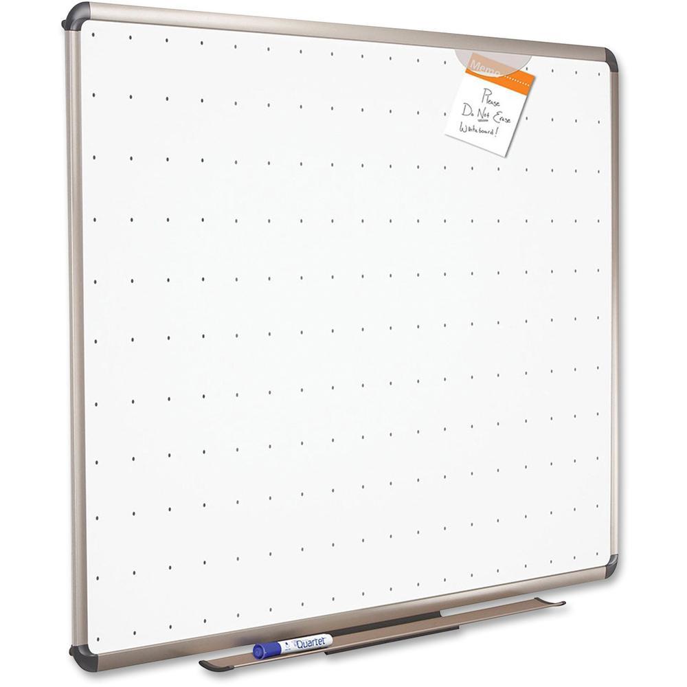 "Quartet® Prestige® Total Erase® Whiteboard - 72"" (6 ft) Width x 48"" (4 ft) Height - White Surface - Titanium Aluminum Frame - Horizontal - 1 Each. Picture 2"