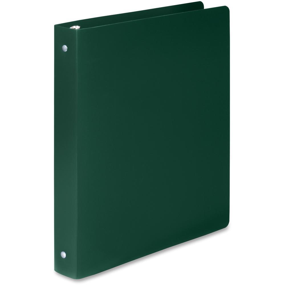 "Wilson Jones ACCOHIDE Binder - 1"" Binder Capacity - Letter - 8 1/2"" x 11"" Sheet Size - 175 Sheet Capacity - Round Ring Fastener(s) - 35 pt. Binder Thickness - Polypropylene - Dark Green - Eco-friendly. Picture 2"