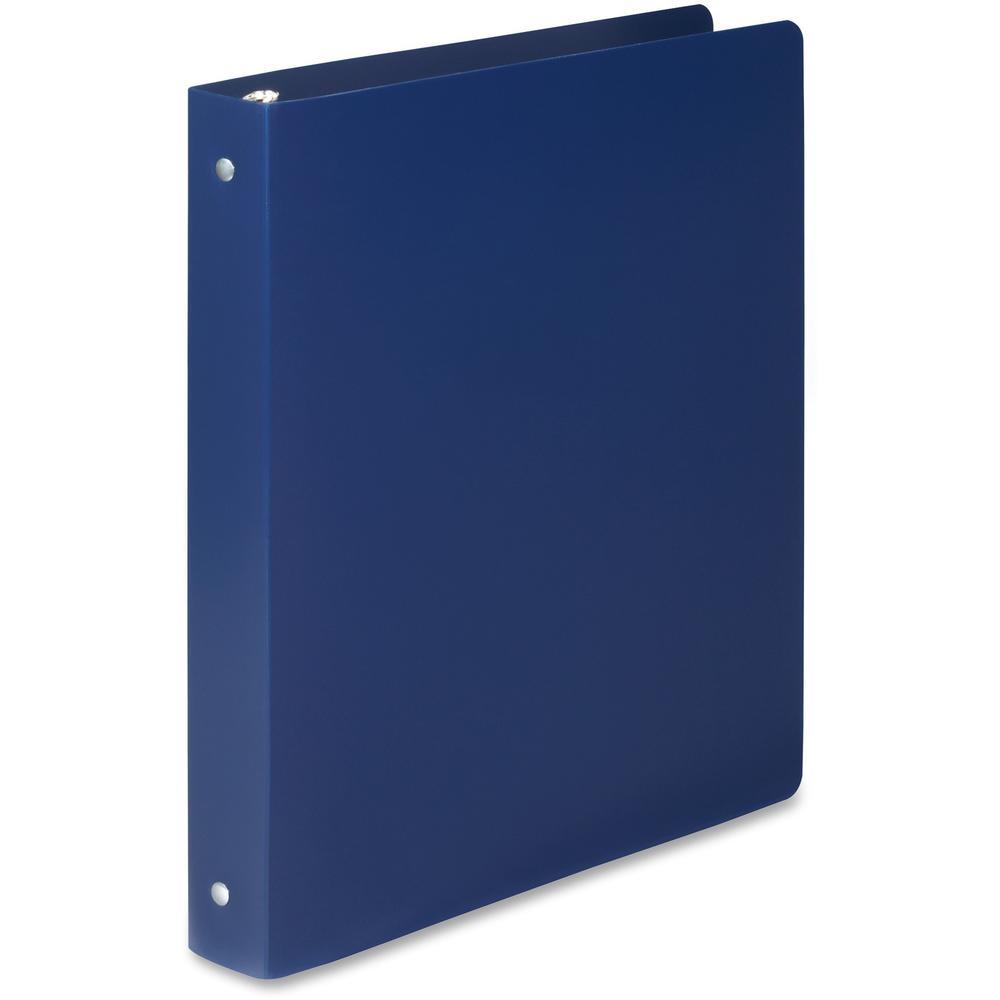 "Wilson Jones ACCOHIDE Binder - 1"" Binder Capacity - Letter - 8 1/2"" x 11"" Sheet Size - 175 Sheet Capacity - Round Ring Fastener(s) - 35 pt. Binder Thickness - Polypropylene - Blue - Eco-friendly, PVC-. Picture 4"
