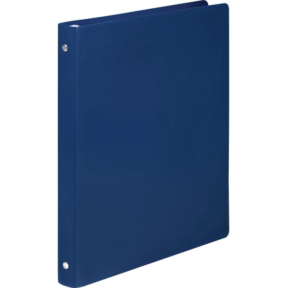 "Wilson Jones AccoHide Binder - 1/2"" Binder Capacity - Letter - 8 1/2"" x 11"" Sheet Size - 120 Sheet Capacity - Round Ring Fastener(s) - 23 pt. Binder Thickness - Polypropylene - Blue - Eco-friendly, PV. Picture 3"