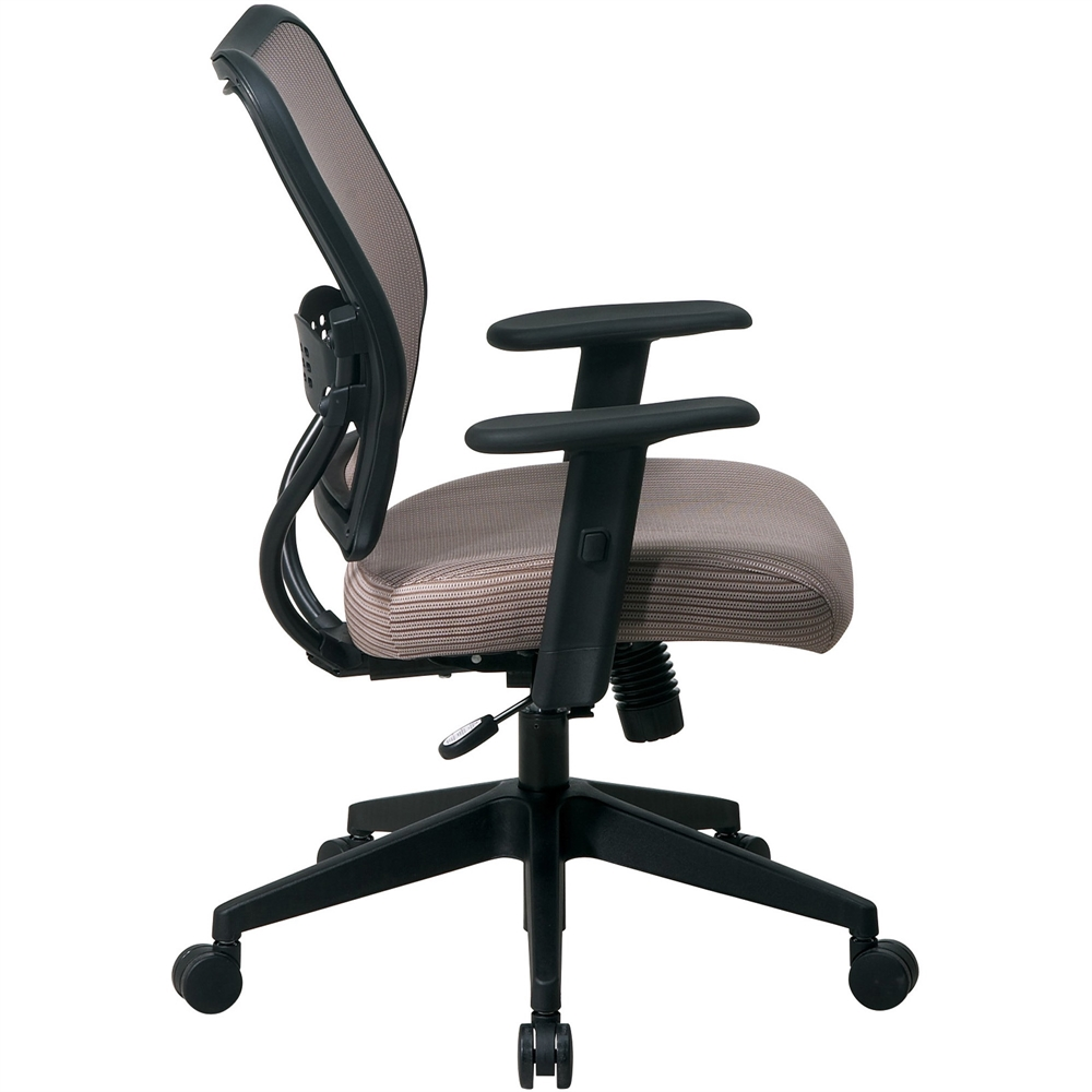office star space veraflex series task chair fabric latte seat