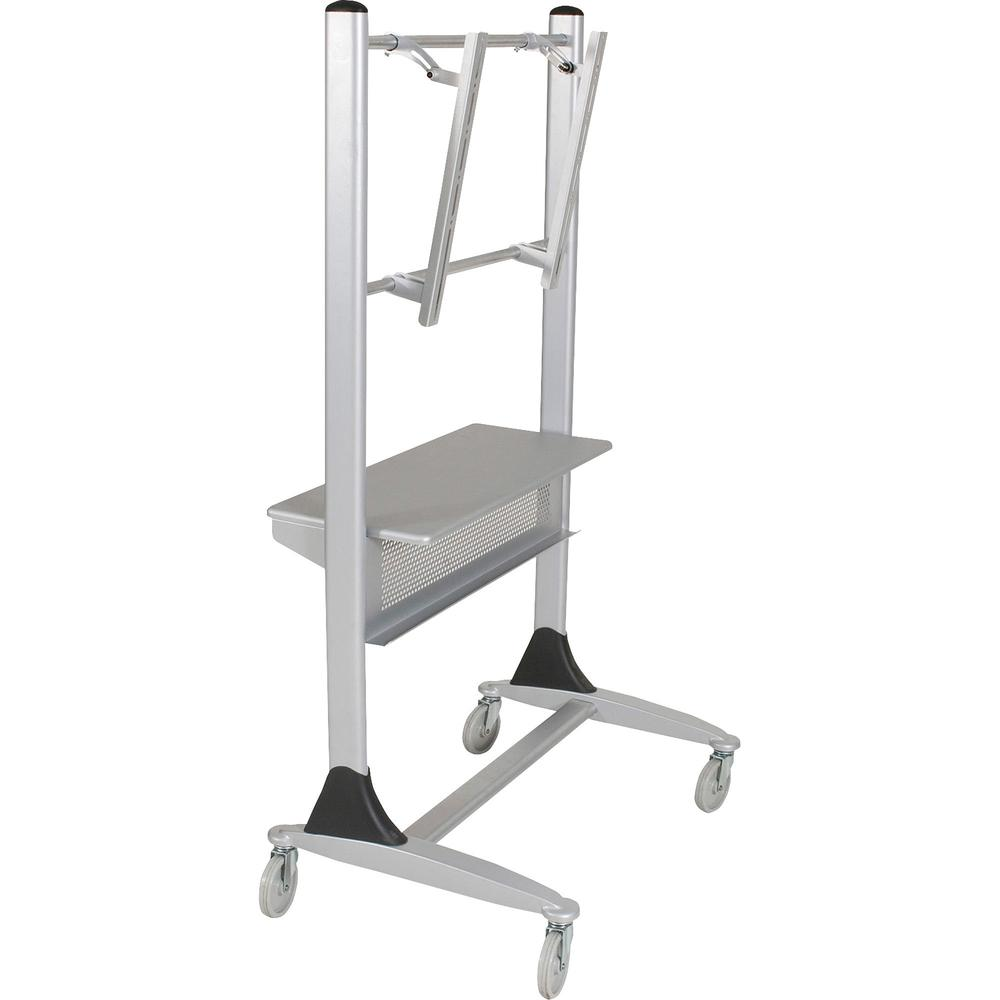 """MooreCo Platinum Series Plasma/LCD Cart - 67"""" Height x 35"""" Width x 25.5"""" Depth - Steel - Silver. Picture 4"""