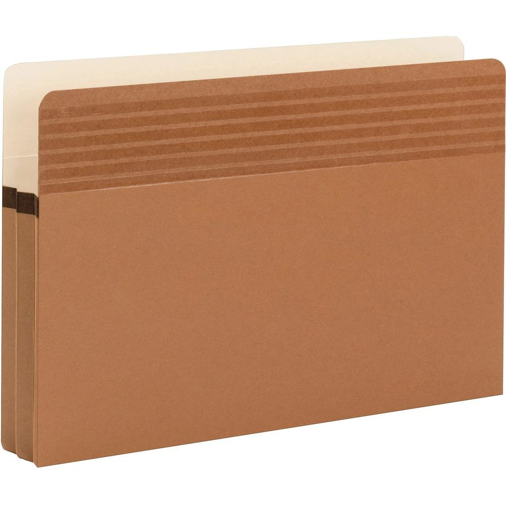 """Smead Easy Grip Straight Tab Cut Legal Recycled File Pocket - 8 1/2"""" x 14"""" - 1 3/4"""" Expansion - Redrope - Redrope - 30% - 25 / Box. Picture 3"""