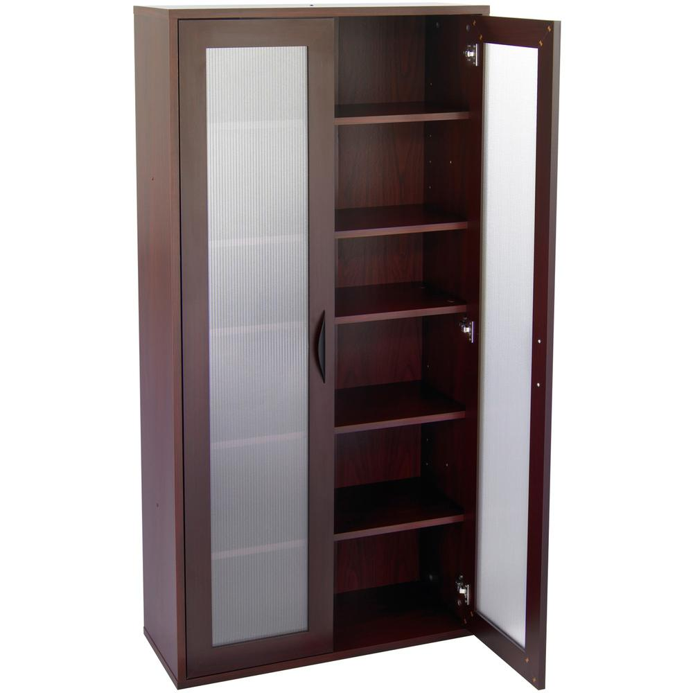 """Safco Après Modular Storage Tall Cabinet - 29.8"""" x 11.8"""" x 59.5"""" - 5 x Shelf(ves) - 75 lb Load Capacity - Mahogany - Wood - Assembly Required. Picture 5"""