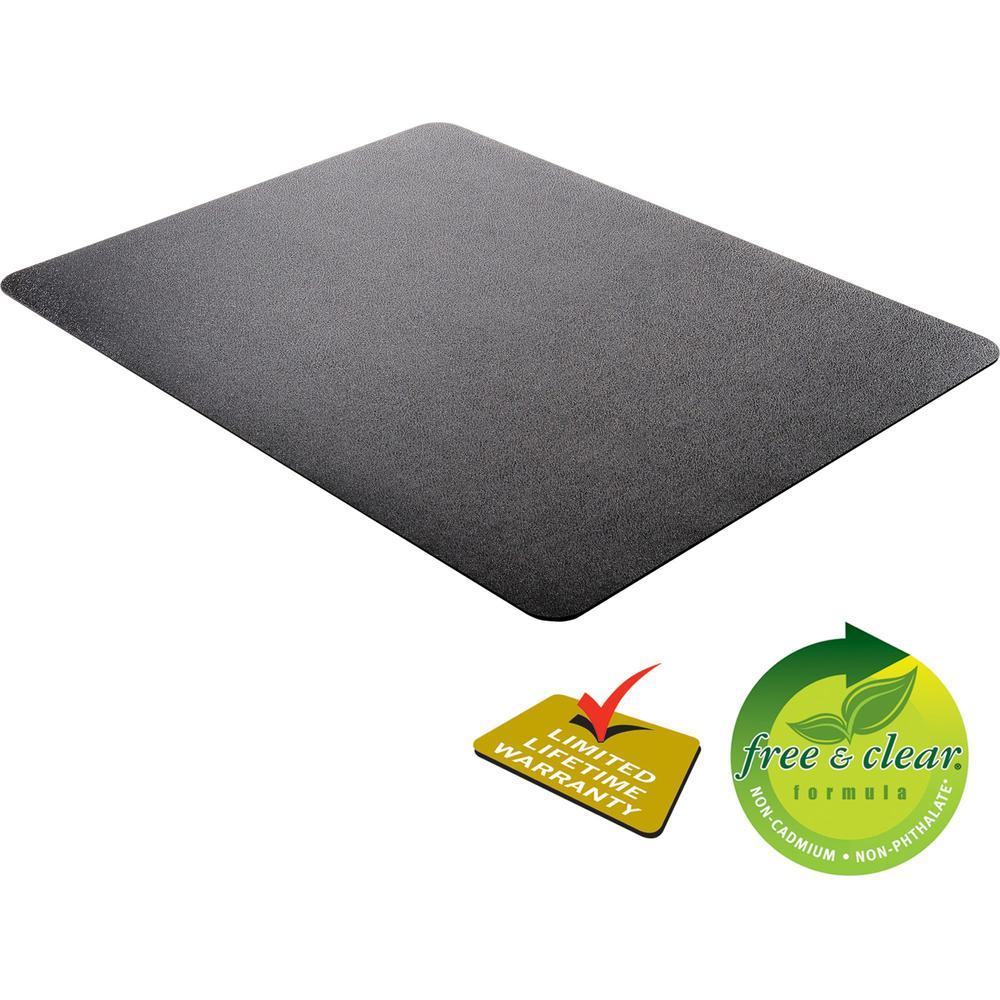 "Deflecto Black EconoMat for Hard Floors - Hard Floor, Office, Carpeted Floor, Breakroom - 60"" Length x 46"" Width - Rectangle - Vinyl - Black. Picture 6"