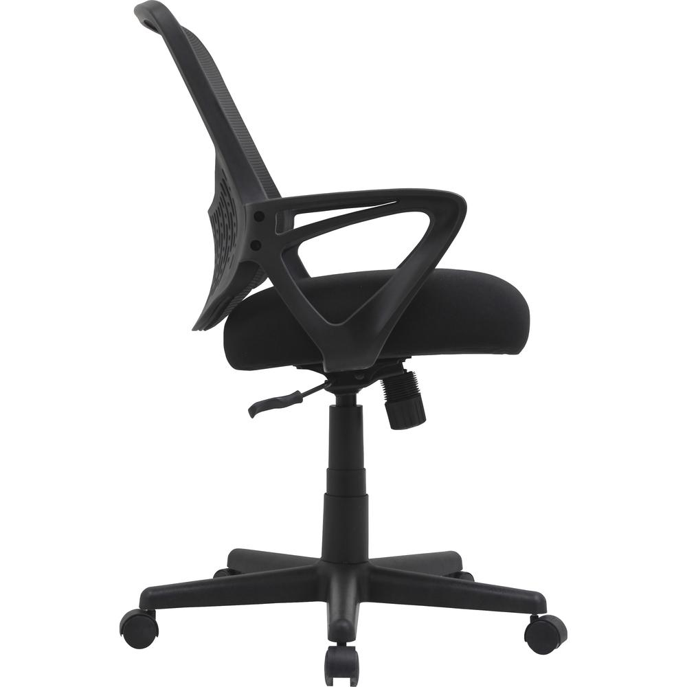 """Lorell Value Collection Mesh Back Task Chair - Black Fabric Seat - Black Fabric Back - 24.6"""" Width x 14.3"""" Depth x 23.6"""" Height - 1 Each. Picture 9"""