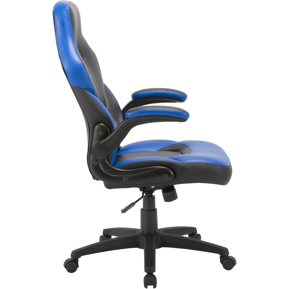 Lorell Bucket Seat High Back Gaming Chair Black Blue