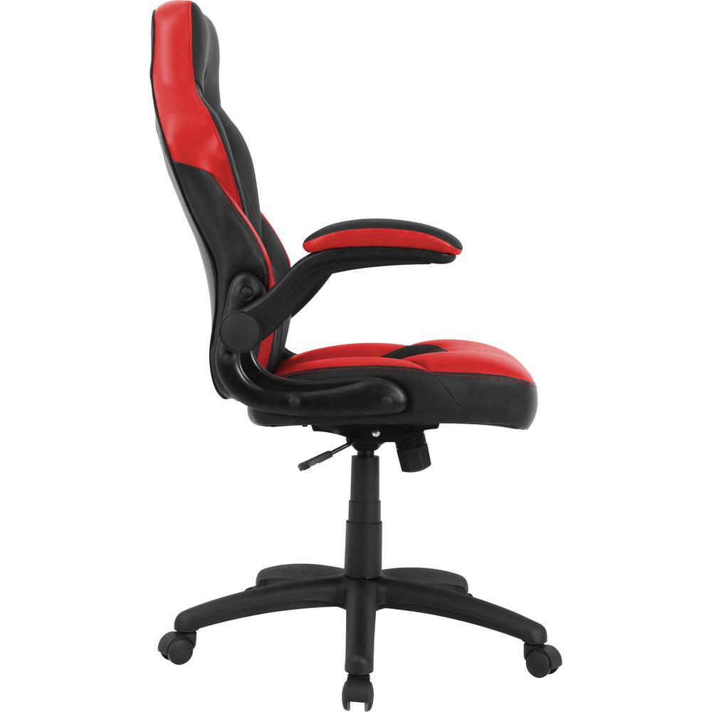 Lorell Bucket Seat High Back Gaming Chair Red Black